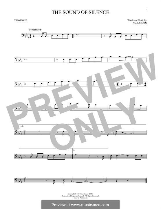 The Sound of Silence (Simon & Garfunkel): For trombone by Paul Simon