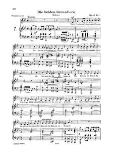 Romanzen und Balladen, Op.49: No.1 Two Grenadiers, for voice and piano by Robert Schumann