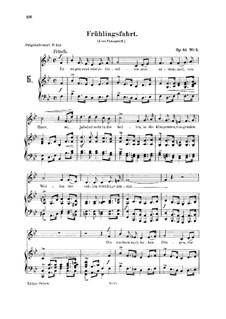 Romanzen und Balladen, Op.45: No.2 Frühlingsfahrt (Spring Journey) by Robert Schumann