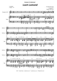 Loch Lomond: Duet for Bb-trumpet by folklore