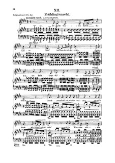 Nr.12 Frühlingsnacht: Für Stimme und Klavier by Robert Schumann