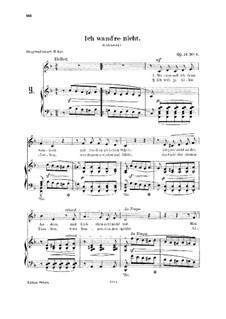 Lieder und Gesänge, Op.51: No.3 Ich wand're nicht (The Joys of Home) by Robert Schumann