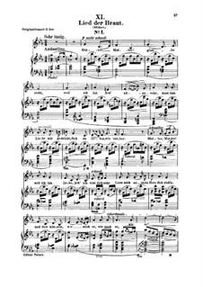 Nr.11 Lied der Braut: Für Stimme und Klavier by Robert Schumann