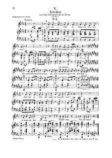 Nr.5 Sitz' ich allein : Für Stimme und Klavier by Robert Schumann