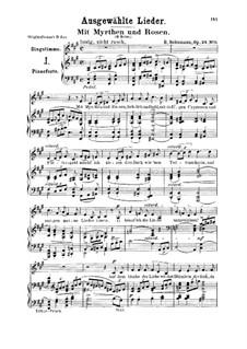 Liederkreis, Op.24: No.9 Mit Myrten und Rosen (With Myrtle and Roses) by Robert Schumann
