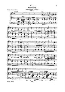 Nr.22 Niemand: Für Stimme und Klavier by Robert Schumann