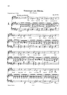 Sechs Gedichte, Op.36: No.1 Sunday on the Rhine by Robert Schumann