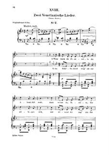 Nr.18  Venetianisch Lied Nr.2: Für Stimme und Klavier by Robert Schumann