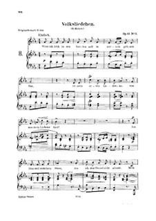 Lieder und Gesänge, Op.51: No.2 Volksliedchen (Folksong) by Robert Schumann