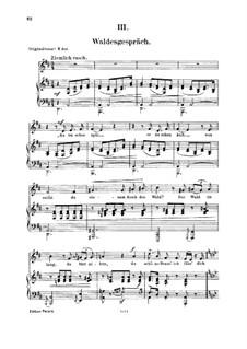 Nr.3 Waldesgespräch: Für Stimme und Klavier by Robert Schumann