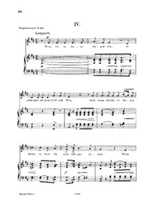 Nr.4 Wenn ich in deine Augen seh: For voice and piano, low voice by Robert Schumann