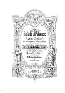 Ballade und Polonäse, Op.38: Solostimme by Henri Vieuxtemps