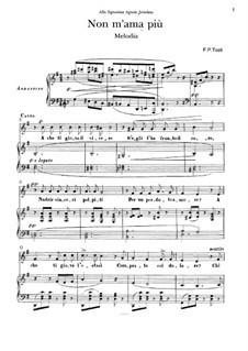 Non T'Amo Più: Für Stimme und Klavier by Francesco Paolo Tosti