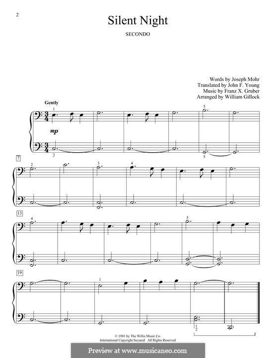 Stille Nacht, für Klavier: Für einen Interpreten by Franz Xaver Gruber