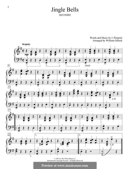 Jingle Bells, for Piano: Für einen Interpreten by James Lord Pierpont