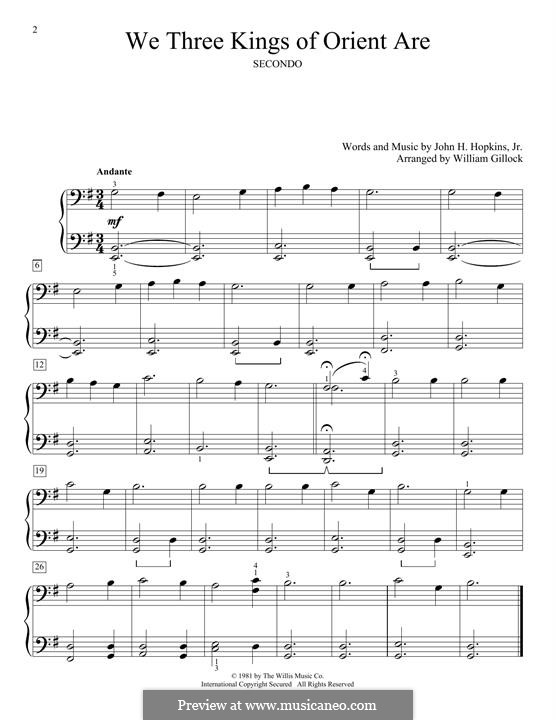 We Three Kings of Orient are, for Piano: Für einen Interpreten by John H. Hopkins Jr.