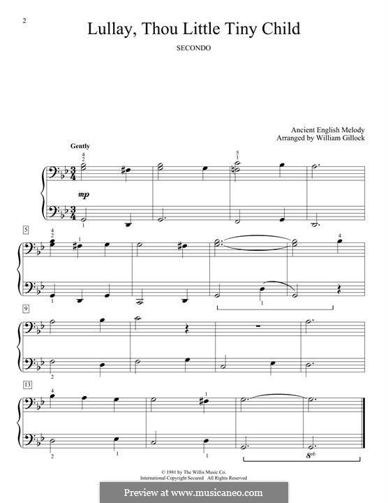 Lullay, Thou Little Tiny Child: Für Klavier by folklore