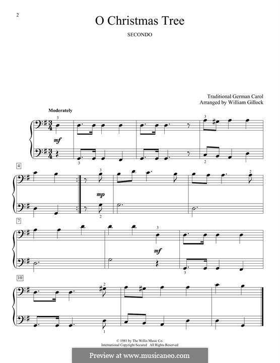 O Tannenbaum, für Klavier: Für einen Interpreten by folklore