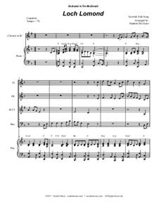 Loch Lomond: For woodwind quartet by folklore