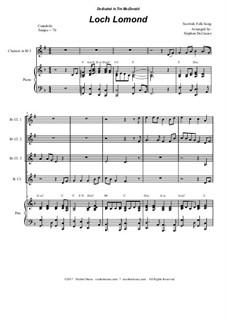 Loch Lomond: For clarinet choir by folklore