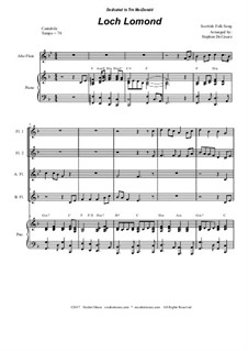 Loch Lomond: For flute choir by folklore