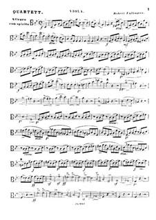 Streichquartett Nr.2 in g-Moll, Op.14: Violastimme by Robert Volkmann