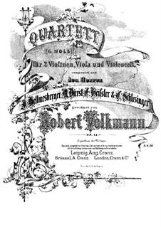 Streichquartett Nr.2 in g-Moll, Op.14: Violinstimme I by Robert Volkmann