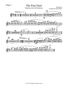 The First Noel. Variations: For full orchestra – flute 1 part by folklore