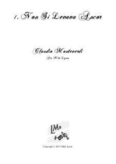 Heft 2 (für fünf Stimmen), SV 40–59: No.01 Non Si Levava Ancor. Arrangement for quintet instruments by Claudio Monteverdi