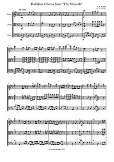 Nr.44 Halleluja: Für Streichtrio by Georg Friedrich Händel