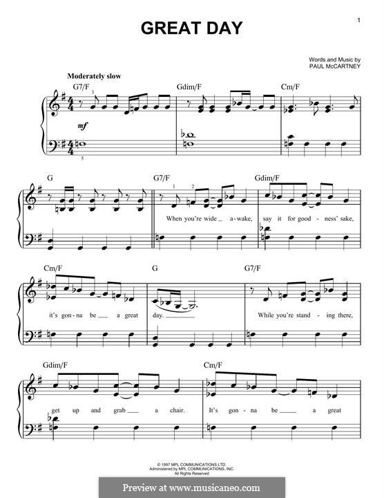 Great Day: Für Klavier by Paul McCartney