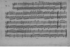 Sechs deutsche Tänze für Klavier: Sechs deutsche Tänze für Klavier by Joseph Wölfl