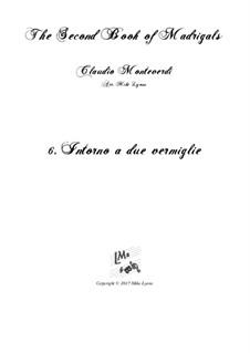 Heft 2 (für fünf Stimmen), SV 40–59: No.6 Intorno a due vermiglie. Arrangement for quintet instruments by Claudio Monteverdi