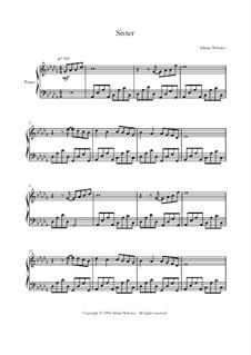 Klavier Lieder Band 2 - CrusaderBeach - Songbuch: No.4 Sister by Adrian Webster