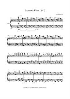 Klavier Lieder Band 2 - CrusaderBeach - Songbuch: No.3 Prospero (Parts 1 and 2) by Adrian Webster