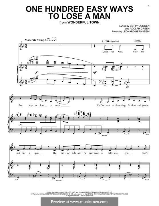 One Hundred Easy Ways to Lose a Man: Für Stimme und Klavier by Leonard Bernstein