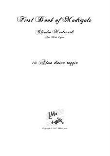 Heft 1 (für fünf Stimmen), SV 23–39: No.10 Almo divino raggio. Arrangement for quintet instruments by Claudio Monteverdi