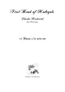 Heft 1 (für fünf Stimmen), SV 23–39: No.18 Donna s'io miro voi. Arrangement for quintet instruments by Claudio Monteverdi