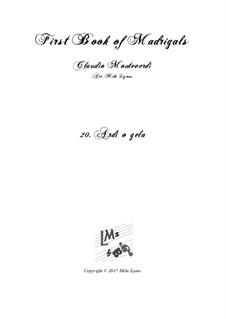 Heft 1 (für fünf Stimmen), SV 23–39: No.20 Ardo o gela. Arrangement for quintet instruments by Claudio Monteverdi