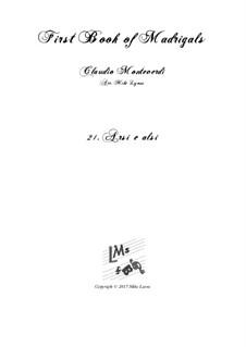 Heft 1 (für fünf Stimmen), SV 23–39: No.21 Arsi e Alsi. Arrangement for quintet instruments by Claudio Monteverdi
