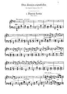 Zwei Spanische Tänze, Op.37: Vollsammlung by Enrique Granados