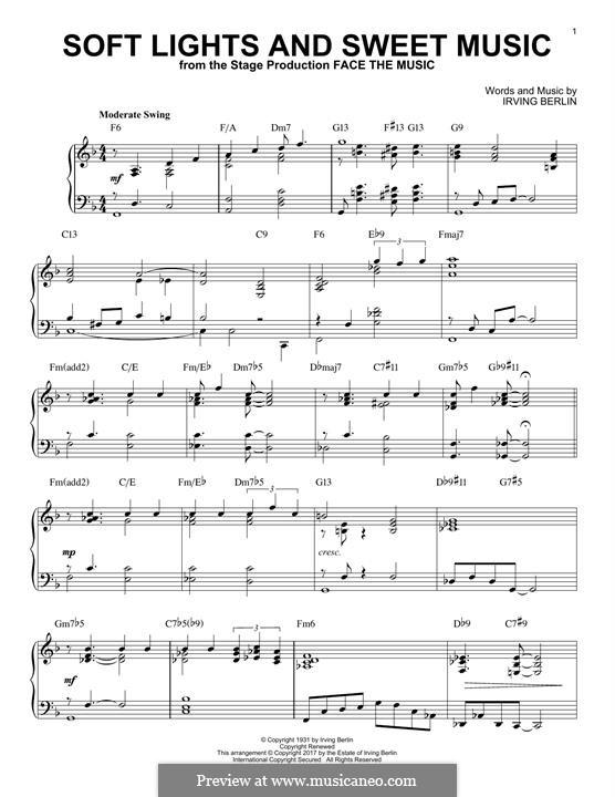 Soft Lights and Sweet Music: Für Klavier by Irving Berlin