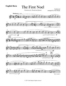 The First Noel. Variations: For woodwind quintet – english horn part by folklore