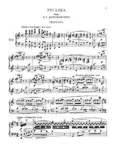 Mermaid: Ouvertüre, für Klavier by Alexander Sergeyevich Dargomyschski