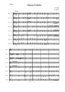 Herbei o ihr Gläubigen: Für 8 Horns – Partitur by John Francis Wade