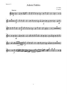 Herbei o ihr Gläubigen: Für 8 Horns – Stimmen by John Francis Wade