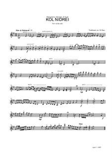 Kol Nidrei: For violin solo by folklore