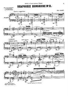 Nr.2 in cis-Moll, S.244: Für Klavier (mit Kadenz von S. B. Mills) by Franz Liszt