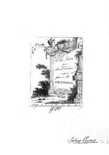 Sechs Konzertduos für zwei Violinen, Op.3 No.1-3: Sechs Konzertduos für zwei Violinen by Niccolò Mestrino