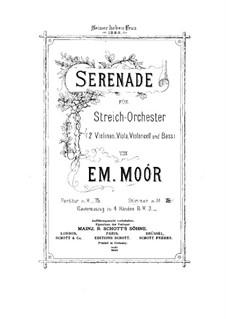 Serenade für Streichоrchester, Op.16: Violinstimme I by Emanuel Moór